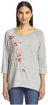 JWLA Women's Embroidered Jersey Knit Top