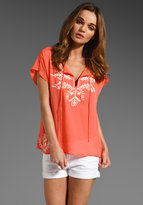 Cabo Embroidered Silk Top