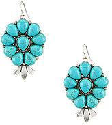 Natasha Accessories Turquoise Teardrop Earrings