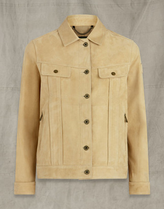Belstaff MABEL LEATHER JACKET Beige UK 8 /