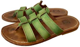 K. Jacques Green Suede Sandals