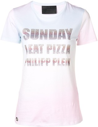 Philipp Plein Sunday I Eat Pizza T-shirt