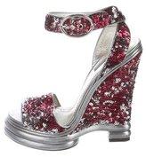 Dolce & Gabbana Sequined Platform Sandals