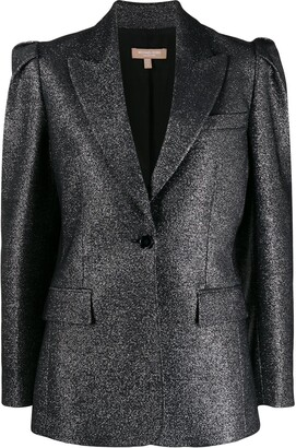 Michael Kors Pleated-Shoulder Blazer