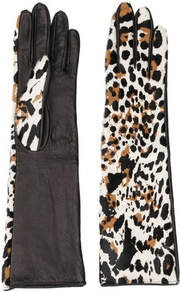 Manokhi Leopard-Print Gloves