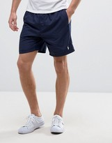 Polo Ralph Lauren Runner Shorts Back Waistband Zip Pocket In Navy