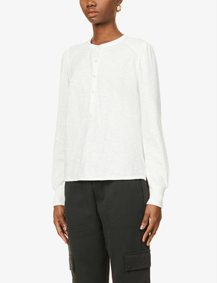 Me And Em Puff-sleeve cotton-jersey top