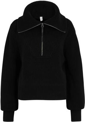 Varley Mentone Half-zip Knitted Cotton Jumper