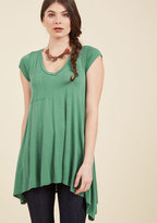 ModCloth A Crush on Casual Tunic in Rosemary in XXS
