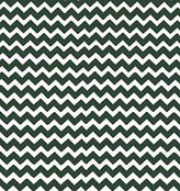 686 SheetWorld Fitted Basket Sheet - Hunter Green Chevron Zigzag - Made In USA - 13 inches x 27 inches (33 cm x cm)