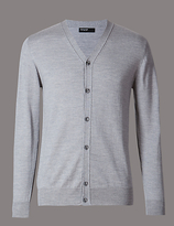 Autograph Button Front V-neck Cardigan