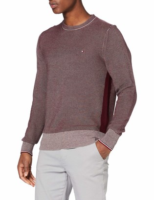 Tommy Hilfiger Men's Two Color Structure Sweater Sweatshirt