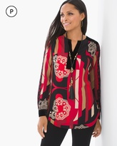 Chico's Modern Medallions Peasant Top