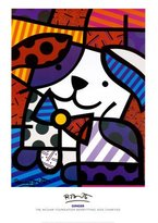 Art.com Ginger Art Poster Print by Romero Britto, 28x40