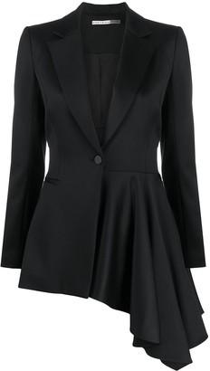 Alice + Olivia Hudson asymmetric draped blazer
