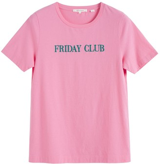 Chinti and Parker Pink Friday Club Cotton T-shirt