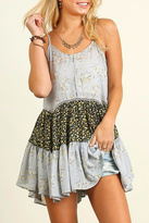 Umgee USA Ruffled Print Dress