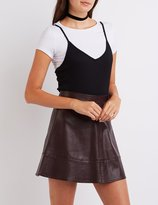 Charlotte Russe Ribbed Layered Tee