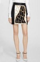 Rachel Zoe 'Shane' Giraffe Print Miniskirt