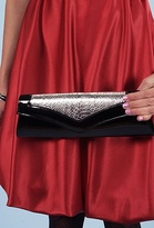 Style Violet Mixed Patent Leather Clutch