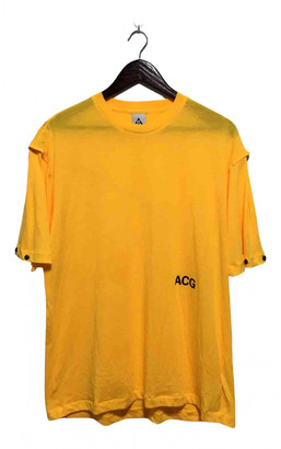Nike ACG Yellow Cotton T-shirts
