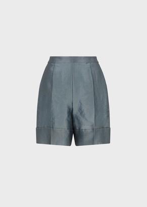 Emporio Armani Piquet Silk Shorts