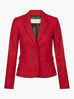 Hobbs Hackness Wool Jacket, Berry
