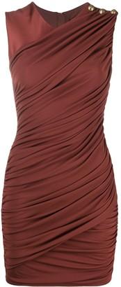 Balmain Ruched Mini Dress