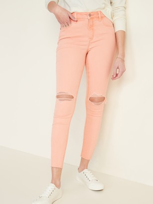 Old Navy High-Waisted Distressed Rockstar Pop-Color Super Skinny Jeans for Women