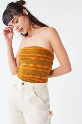 Urban Outfitters Glitter Striped Cropped Tube Top