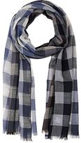 Paul Smith MEN'S GINGHAM WOOL-BLEND GAUZE SCARF