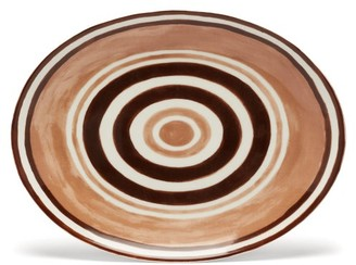 Themis Z - Maze Porcelain Serving Platter - Brown Multi