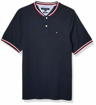 Tommy Hilfiger Men's Short Sleeve Henley Shirt in Custom Fit