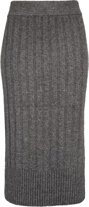 Halogen Ribbed Sweater Skirt