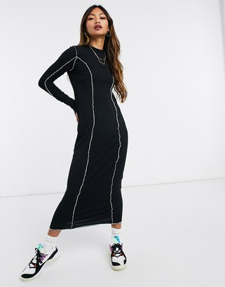 Weekday emmy organic cotton mesh Dress