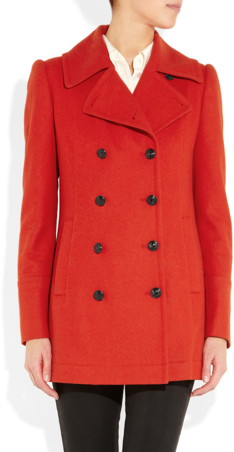 McQ Double-breasted wool-blend coat