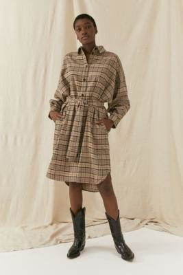 Gestuz Checked Shirt Dress - Assorted M at Urban Outfitters