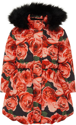 Under Armour Rose Print Padded Coat Red