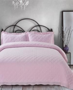 Sleeping Partners Ruffle Trim Cotton Gauze King Quilt Set