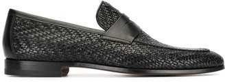 Magnanni Penny woven loafers