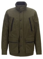HUGO BOSS - Water Repellent Padded Jacket In Two Tone Ripstop Fabric - Open Green