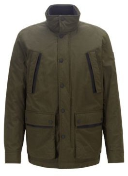 Water-repellent padded jacket in two-tone ripstop fabric
