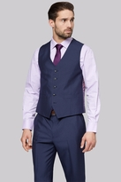 Moss Esq. Regular Fit Navy Stripe Waistcoat