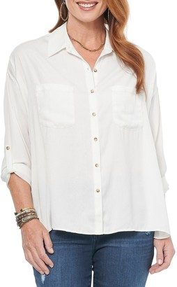 Democracy Patch Pocket Button Down Shirt