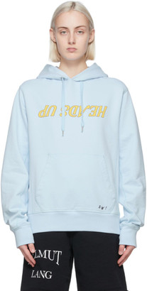 Helmut Lang Blue Saintwoods Edition Heads Up Hoodie