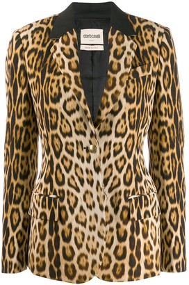Roberto Cavalli Heritage Leopard Print Blazer