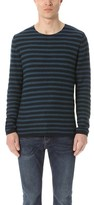 Vince Reverse Stripe Crew Sweater