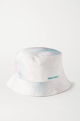 Isabel Marant Haley Tie-dyed Slub Cotton-canvas Bucket Hat - Ivory