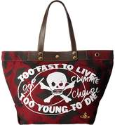Vivienne Westwood Africa Too Fast to Live Shopper Tote Handbags