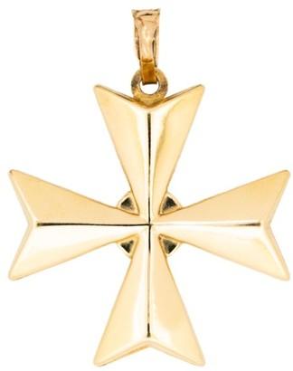 Stephanie Windsor Vintage 18K Yellow Gold Maltese Cross Pendant